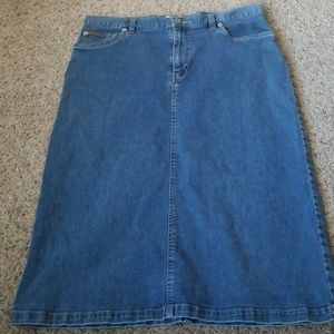 Calvin Klein Jean skirt size 14